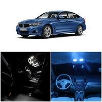 WLJH 14pcs White Ice Blue Canbus Error Free Bulb Car LED Light Package Kit Interior lighting kit for BMW 3 Series E90 2006 2012