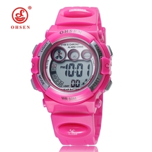 OHSEN Brand Original Alarm Led Display Sports Children Watches for Boys Girls Student Kids Digital Watch Waterproof Reloj ohsen kids watches children digital led fashion sports watch cute boys girls waterproof wrist watches gift watch alarm men clock
