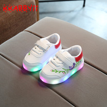 KKABBYII Kids LED Sneakers New Toddler Anti-Slip Sports Boys Girls Shoes Children Lighting Shoes Luminous Flash Glowing Sneakers(China)