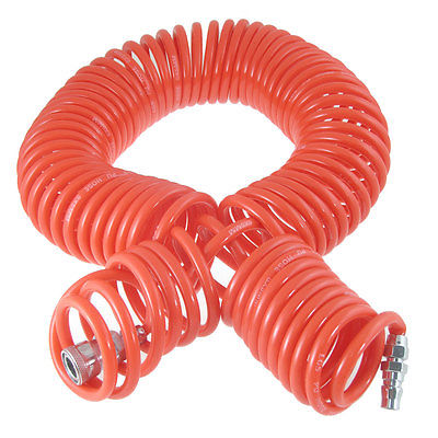 цены 15M 19 Ft 8mm x 5mm Polyurethane PU Recoil Air Hose Tube Orange Red