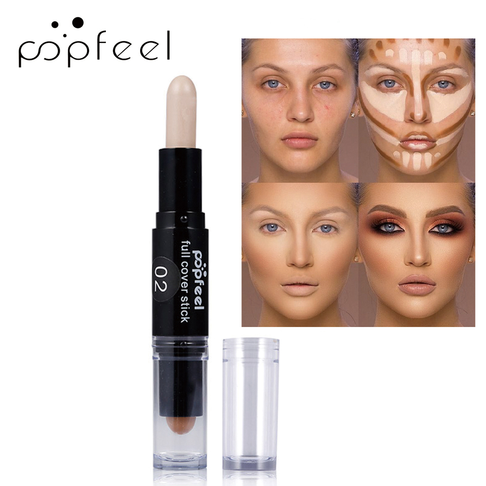 Popfeel 3D Bronzer Highlighter Stick Face Foundation Make Up Pen Contour Pencil Smooth Contour Shadow Highlight Cosmetics TSLM1 image
