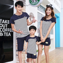 Children Clothing Sets 2017 Summer Family Clothing Sets Boy Girl Clothing Kids Clothes Mother Father Spring Casual Sportswear