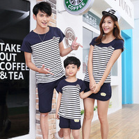 Children Clothing Sets 2017 Summer Family Clothing Sets Boy Girl Clothing Kids Clothes Mother Father Spring