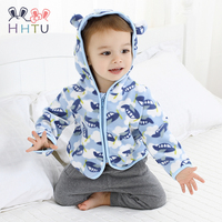 HHTU Cute Spring Kids Jacket Baby Boys Grils Hooded Outerwear Coats Long Sleeve Newborn Clothes Kids