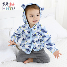 HHTU Cute Spring Kids Jacket Baby Boys Grils Hooded Outerwea