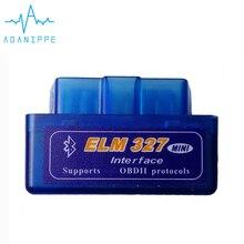 Elm327 V2.1 OBD2 Bluetooth Автосканер для автомобиля матовый материал Elm-327 2,1 ODB сканер Диагностический Авто адаптер код ридер
