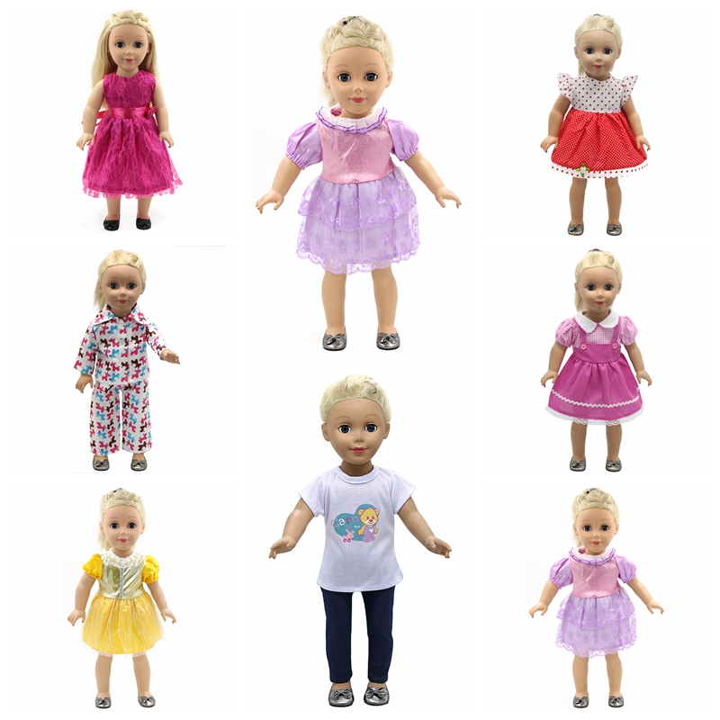 18 inch Doll Clothes and Accessories 15 Styles Princess Skirt Dress Swimsuit Suit for American Dolls Girl Best Gift  D3 handmade multicolor printing princess dress doll clothes for 18 inch dolls american girl doll clothes accessories 15 colors b 21