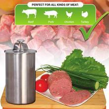 Bologna Caseros de Carne Jamón Fabricante De Hamburguesa Con Termómetro de Acero inoxidable de Cocina Olla de Cocina Herramientas MF-06C