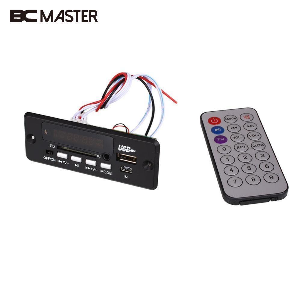 BCMaster Black FM MP3 Player Module CT02EA Remote Control 2x3W Bluetooth Talking module