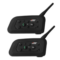 Free Shipping 2PCS 1200M Motorcycle Bluetooth Helmet Intercom For 6 Riders BT Wireless Waterproof Interphone Headsets