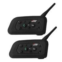 Free Shipping 2PCS 1200M Motorcycle Bluetooth Helmet Intercom For 6 Riders BT Wireless Waterproof Interphone Headsets