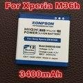 3400mAh Battery For Sony Xperia ZR SO-04E M36h C5502 C5503 BA950 AB-0300