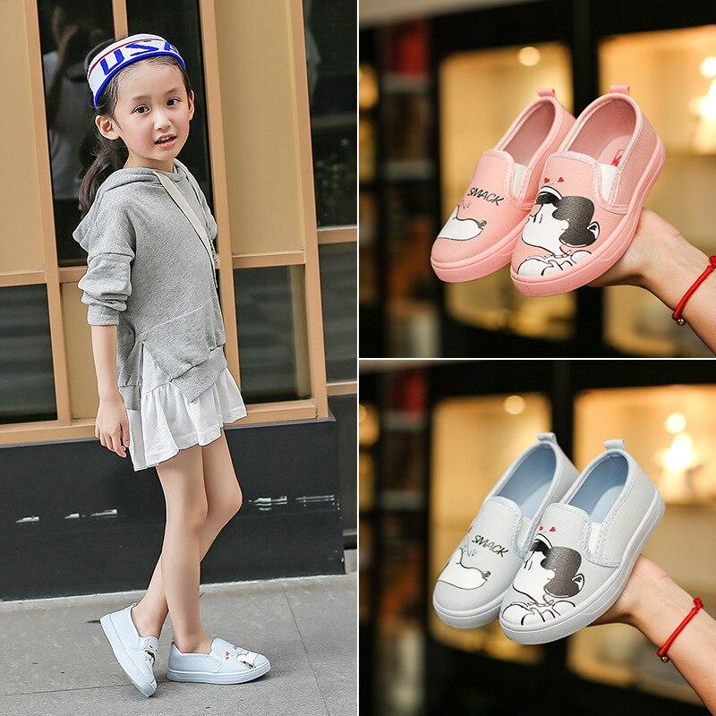 Kinderen Canvas Schoenen Lente Meisje Comfortabele Platte Schoenen - Kinderschoenen - Foto 3
