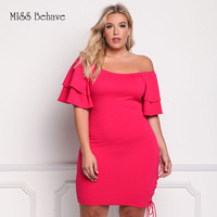 Lady Dress Summer 2018 Zanzea Party Office Dress Exposed Shoulder Lotus Sleeves Dress For Women Sexy