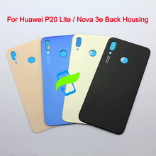 Original Back Battery Cover Housing For Huawei P20 Lite / Nova 3e Rear Door Case with Adhesive For Huawei P20 Lite Glass Cover for huawei nova 3e case aluminum metal bumper case for huawei p20 lite dual color frame for huawei nova 3e case cover 5 84