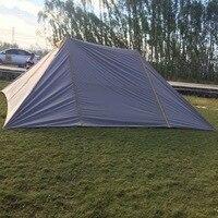 6 м * 7 м большой открытый палатка. Серебро с покрытием Легкий Высокая водонепроницаемой ткани нескольких человек брезент, тент счет кемпинг