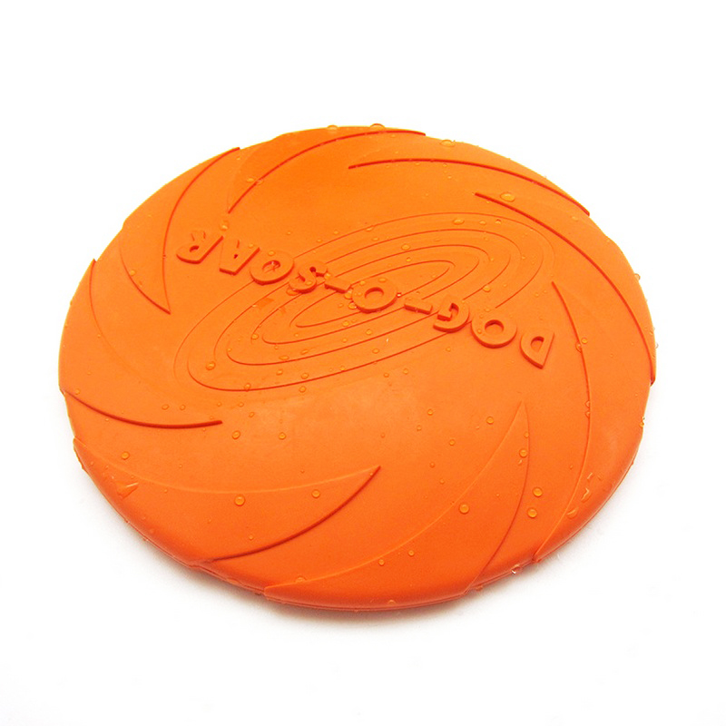 Professional Outdoor Pet Flying Disc Natural Silicone Rubber Dog Puppy Ultimate Flying Saucer Training Game Play Toy 18 22 cm
