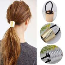 M MISM Fashion Cool Circle Elastic Hair Rubber Bands Ponytail Holder Rope  Women Hair Accessories Bezel c27bbcf7e45