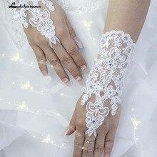 Новые корейские модные наручные Цветочные кружевные бриллиантовые Свадебные перчатки свадебное платье с перчатками короткие перчатки