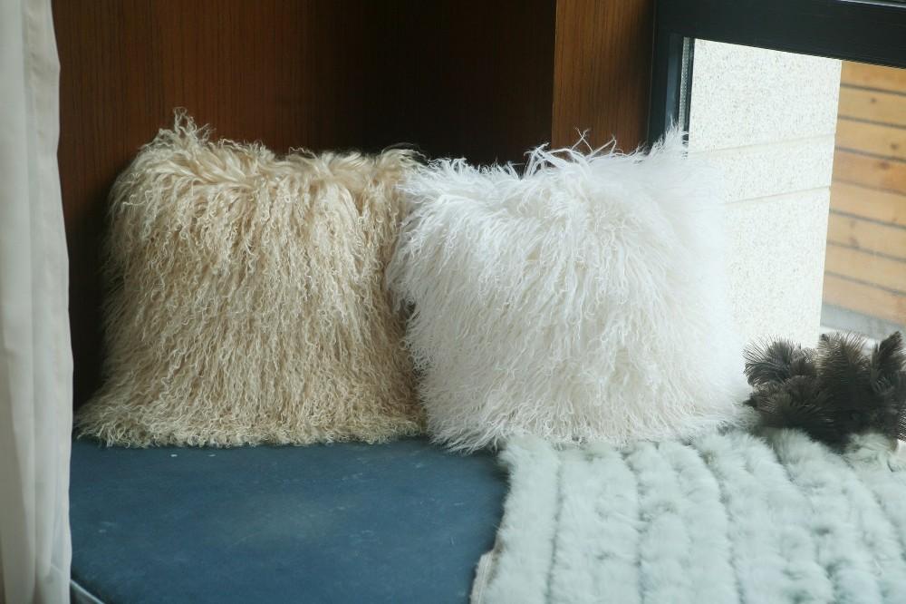 sheep skin back cushion pillow13