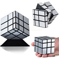 New brand Brushed Silver & gold Mirror Magic Cube Cast Coated Twist Square Cubo Magico learning & education