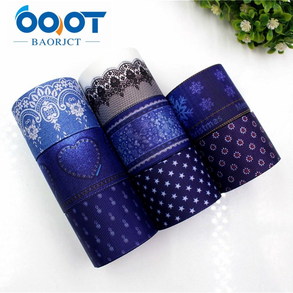 OOOT BAORJCT 177205 мм, 38 мм с цветочным принтом grosgrain ленты, Аксессуары для одежды аксессуары волос, DIY ручной работы подарочная упаковка