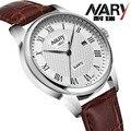 2016 novo relógio de quartzo amantes NARY relógios homens relógios de pulso moda relógios