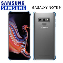 Original Samsung Galaxy Note 9 Transparent Plating Hard PC Protective Case Cover Luxury Clear Anti-knock EF-QN960 Black Gold