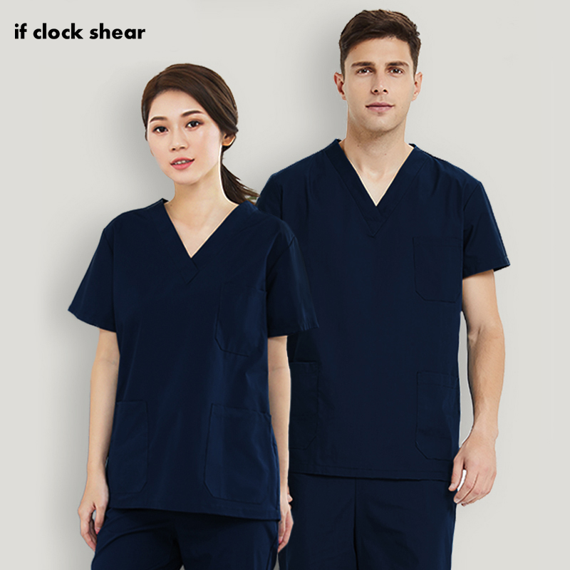 Scrub-Tops Medical-Surgical-Uniforms Pharmacy Pet-Hospital-Work Nurse Operating-Room