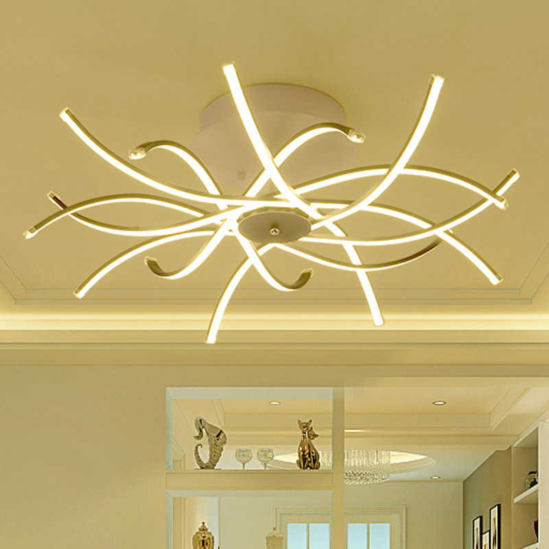 Modern LED Ceiling Light Strip Style Acrylic Shade with Butterfly Kitchen Bedroom Living Room Plafon Lighting BLC6008