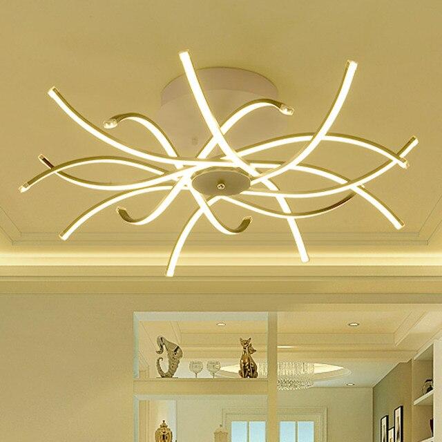 Techo moderno LED tira estilo acrílico sombra con mariposa cocina ...