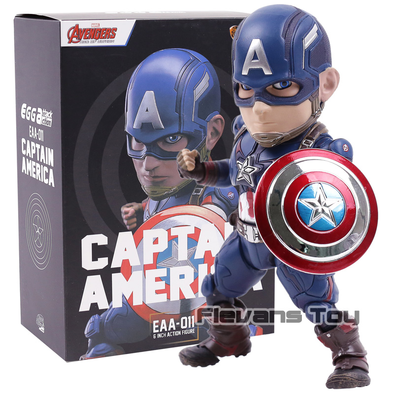 Marvel Avengers Age of Ultron Egg Attack Captain America EAA-011 6 Inch Action Figure Beast Kingdom PVC Action Figure Model Toy avengers age of ultron captain america pvc action figure collectible model toy 9 23cm