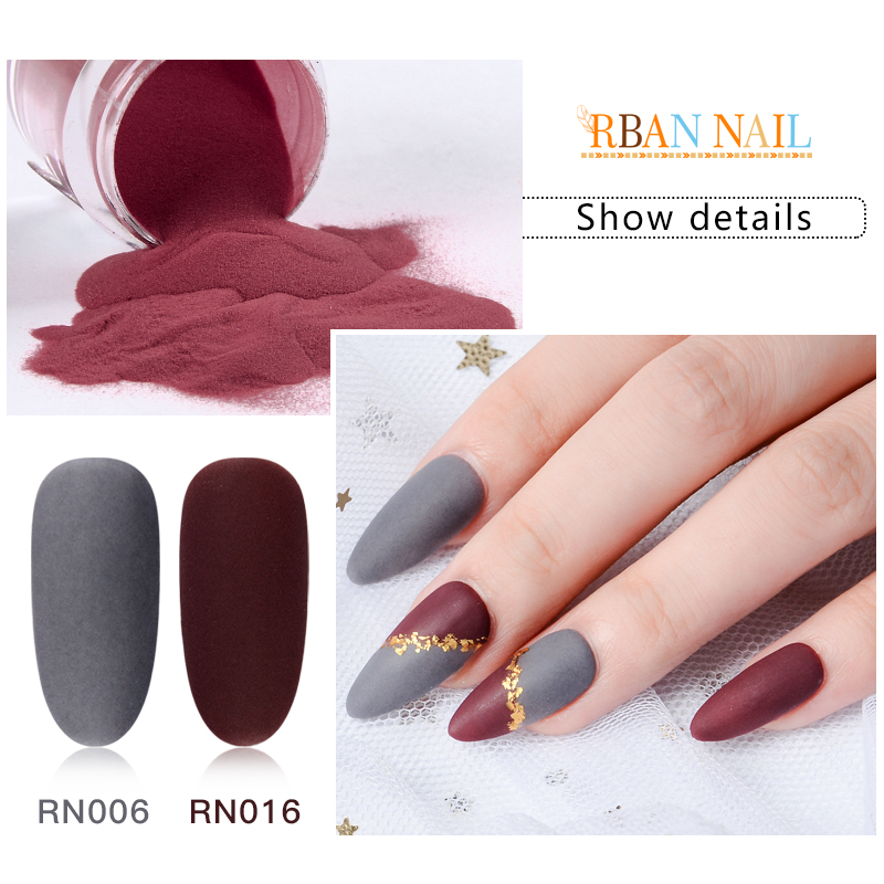 RBAN NAIL 8g Matte Pure Color Dipping Nail Powder Natural Dry Decoration Without Lamp Cure Dip Manicure Dust