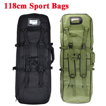 118cm Military Backpack Airsoft Gun Bag Square Hunting Carry Bag Protection Case Rifle Backpack Outdoor Hunting Shoulder Bags tacitcal military men 120x30cm oxford carry bag waterproof outdoor hunting airsoft gun bag rifle case shoulder pouch backpack