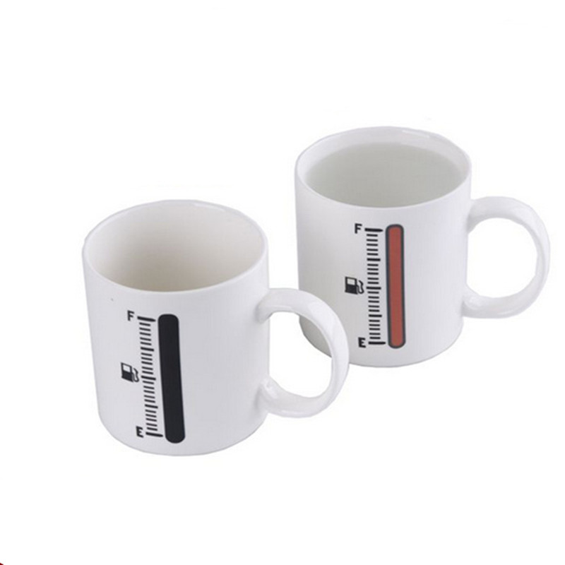d520505d838 Funny color change thermometer glasses ceramic cups 201 - 300 ml coffee tea  mug temperature prompted Discolor