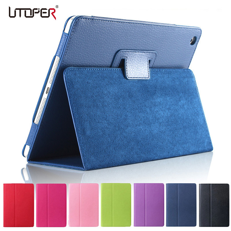 For ipad Mini Case Matte Soft Flip Litchi PU Leather for Apple ipad Mini 1 2 3 Coque Cover Smart Stand Auto Sleep /Wake UP Style protective pu pc flip open case w stand auto sleep for retina ipad mini black