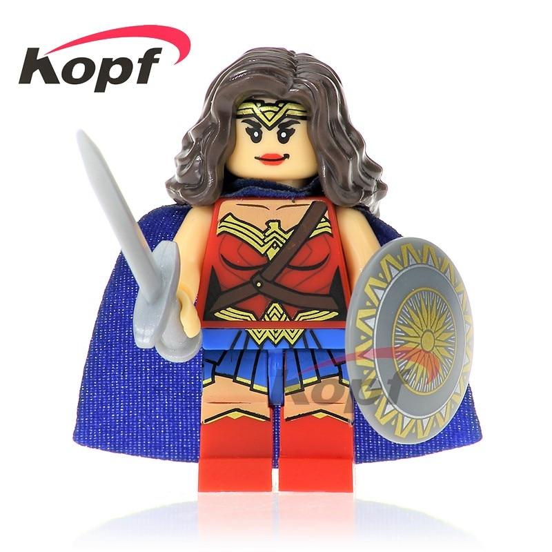Model Building Toys & Hobbies Single Super Heroes Building Blocks Cyborg Legoings Flash Aquaman Bizarro Wonder Woman Miracle Batman Toys For Children