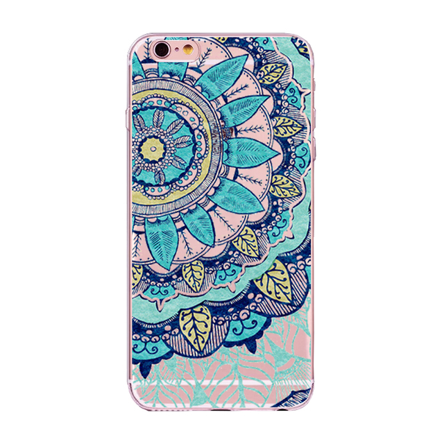 Mandala Silicone Phone Cases for all iPhone Mobiles
