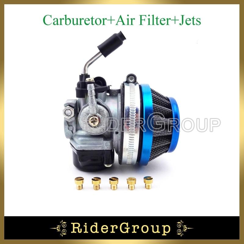 Racing Carburetor Air Filter Carb Jets 50cc-80cc 2 stroke Motorized Bicycle