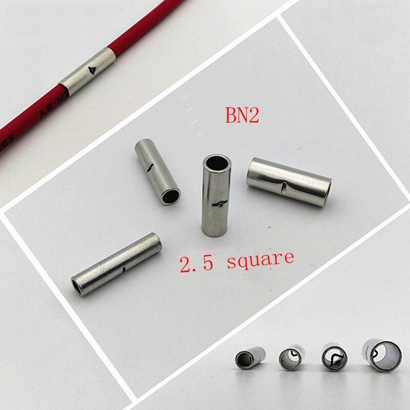 500 pièces BN2 fil raccord tuyau 2.5 carré cuivre étamage jonction fil pression tuyau prendre le dessus tuyau