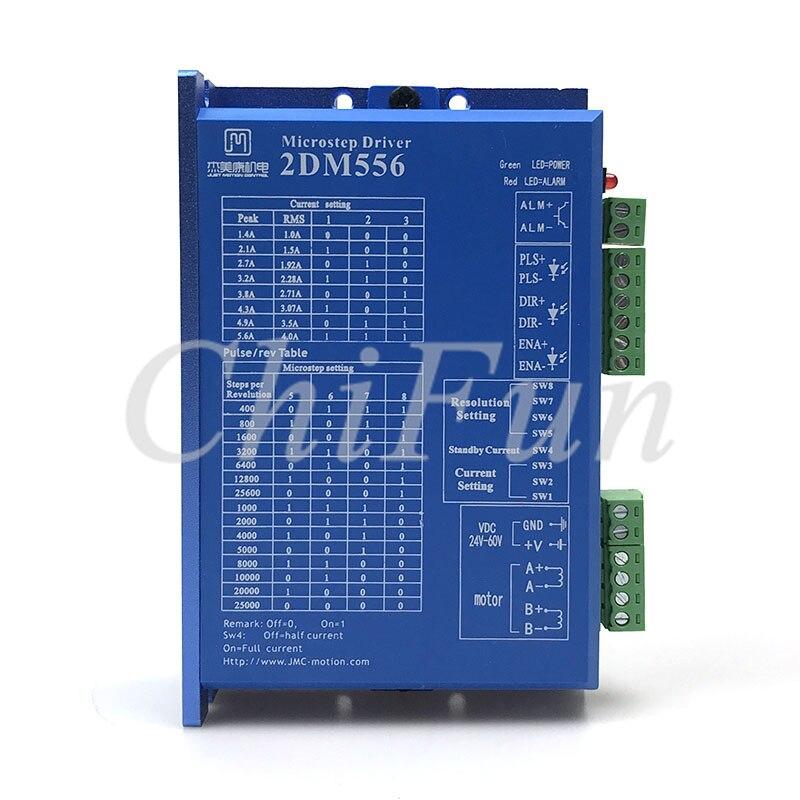 Freeshipping JMC 2DM556 2 phase NEMA23 stepper motor driver 32bit DSP DC36V 5 6A Original quality