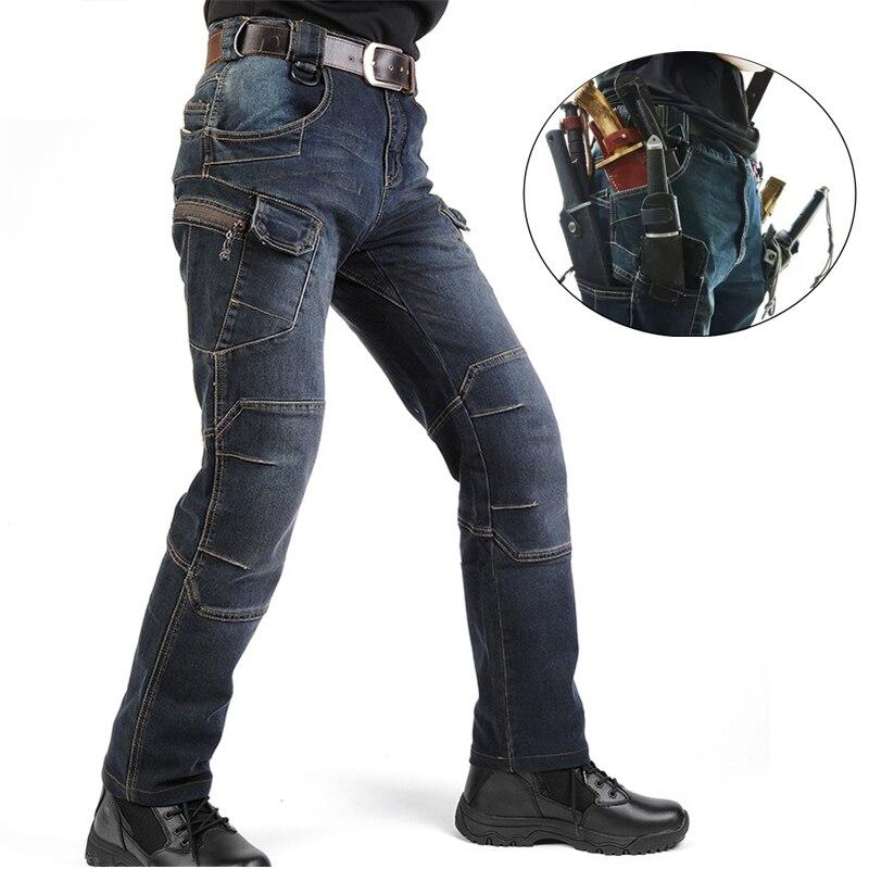 IX 7 SWAT износостойкость охотничьи брюки военные Стиль брюки-карго Для мужчин эластичный деним армии на открытом воздухе Тактические Брюки ...