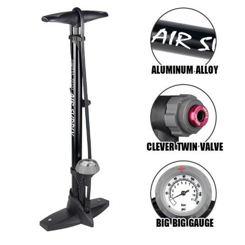 GIYO tuyau pompe à pneu pour vélo Presta Schrader pompes à vélo manomètre vélo pompe à pneu plancher gonfleur d'air pied pompe à vélo