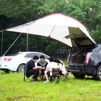 Outdoor 3 4 Person Self driving tour Car Tent Portable Aluminum Alloy Pole Tent Sun Shelter Waterproof Camping Picnic Fishing