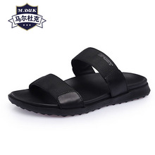 Slippers men's summer new leather slippers owhide Beach shoes casual men sandals Sneakers male Flip Flops outdoor anti-skid brand creative fish shaped male slippers flip flops summer outdoor drag men and women beach shoes fish slippers new