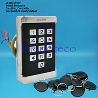 Waterproof Metal Rfid Access Control System Metal Shell Access Controller Door Opener 125khz Smart keyfobs card Door Controller