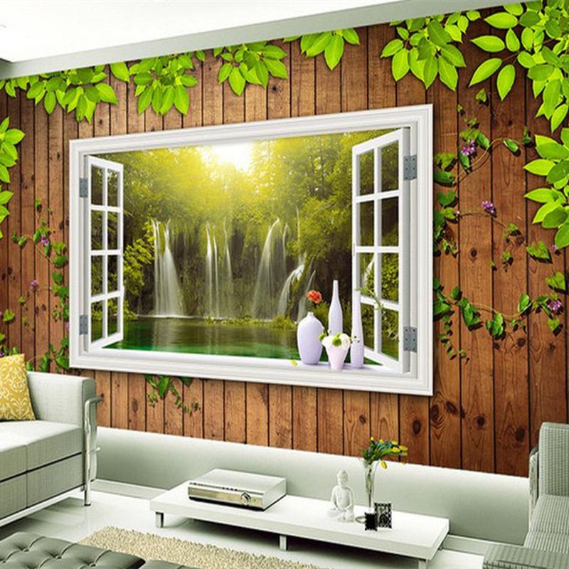 Custom 3 d Photo Wallpaper Wall Picture for Living Room Home Decor Background Wall Mural Wooden Flower Wallpaper Bedroom Decor fixmee 50pcs white plastic invisible wall mount photo picture frame nail hook hanger