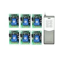 цена на Smart Home AC85V- 250V 110V 220V 2000W RF Wireless Remote Control Switch System For Light ,door,windows