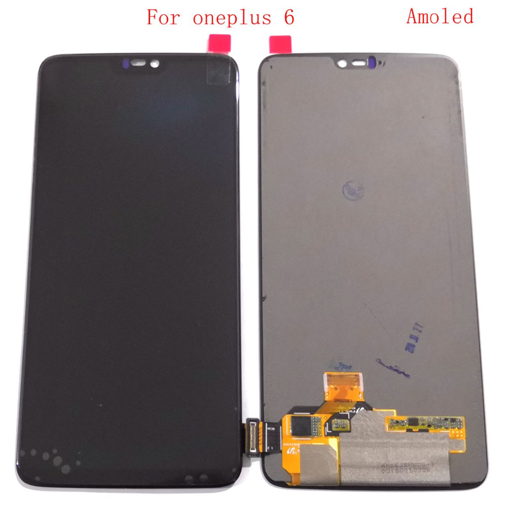 Amoled For <font><b>Oneplus</b></font> 6 <font><b>A6000</b></font> Lcd Screen Display+Touch Glass DIgitizer Together Repair broken 1+6 screen oneplus6 LCDS Amoled image