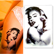M-theory Temporary Tattoos Body Art, Classic Marilyn MonroeDesigns, Flash Tatoos Sticker 20x12cm Swimsuit Bikini Makeup